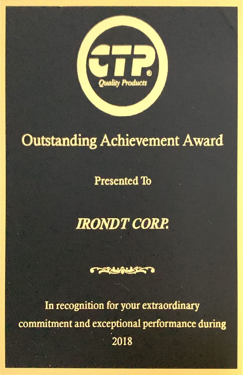 IronDT Copr 2018 Costex Award